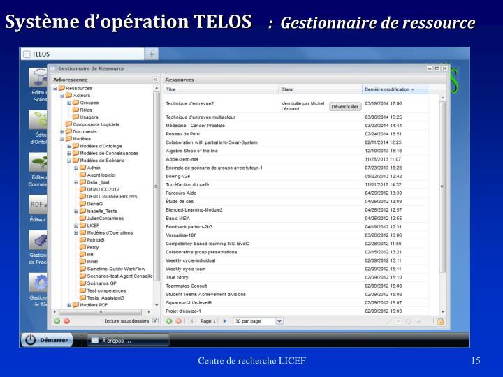 Système d'opération TELOS