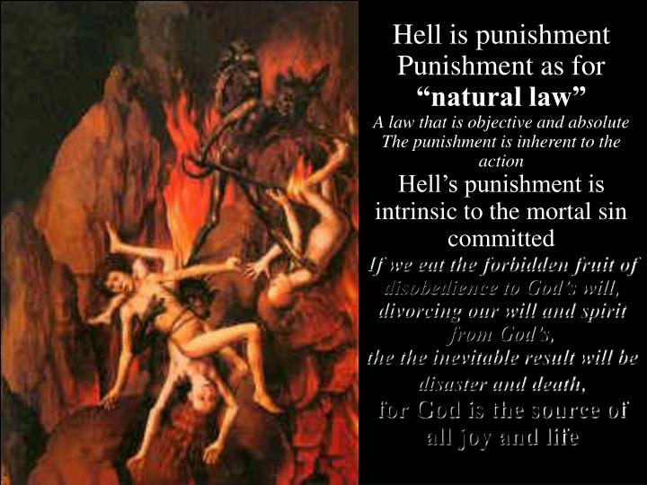 Hell is punishment