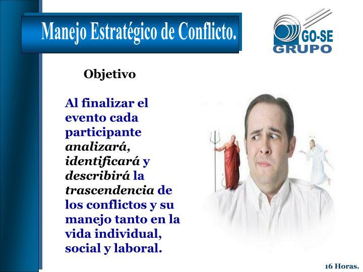 Manejo Estratégico de Conflicto.