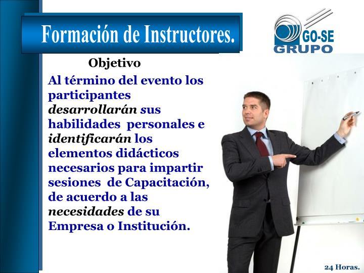 Formación de Instructores.