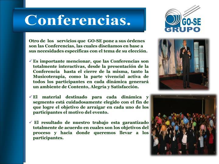 Conferencias.