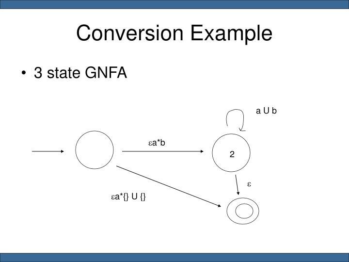 Conversion Example