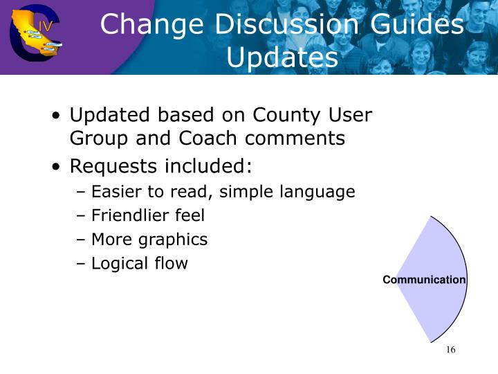 Change Discussion Guides Updates