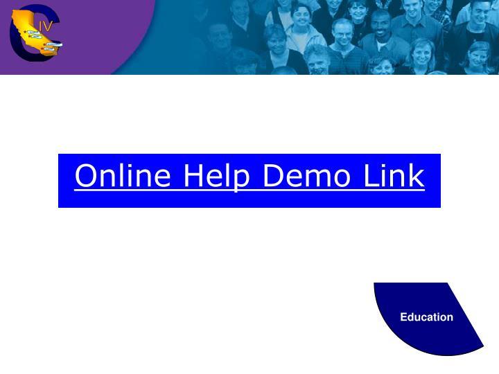 Online Help Demo Link