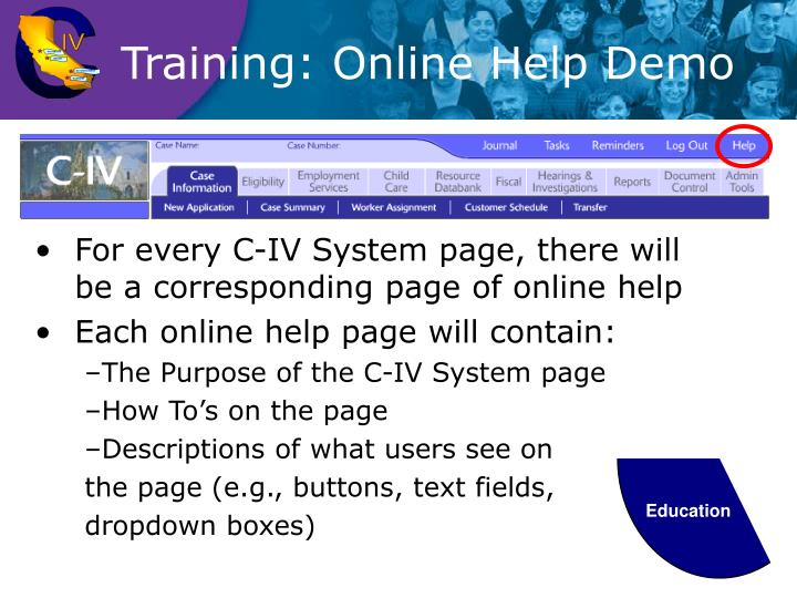 Training: Online Help Demo