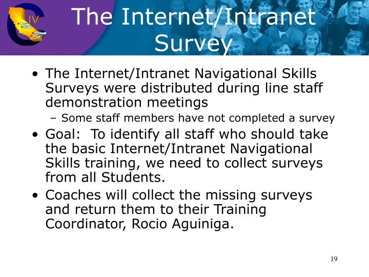The Internet/Intranet Survey