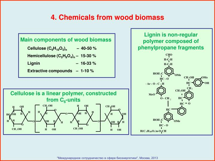 Lignin is non-regular polymer composed of phenylpropane fragments