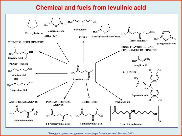 Chemical and fuels from levulinic acid