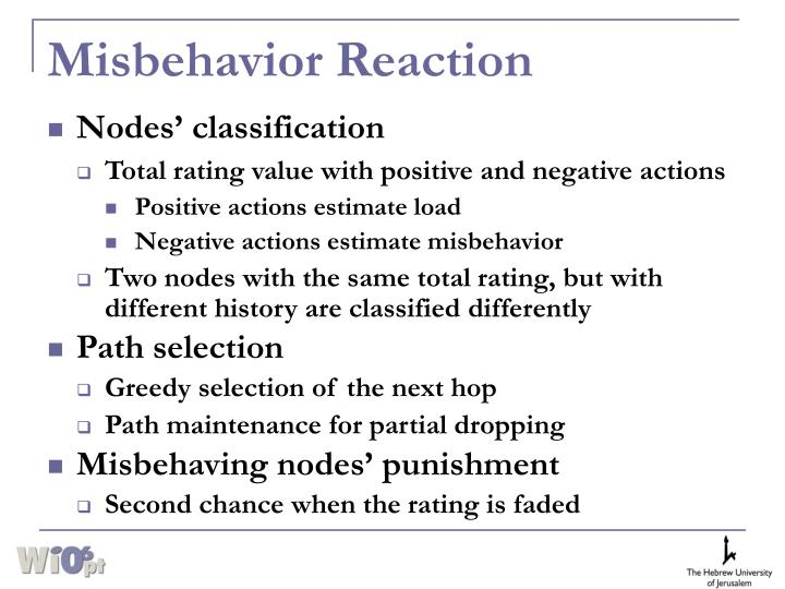 Misbehavior Reaction