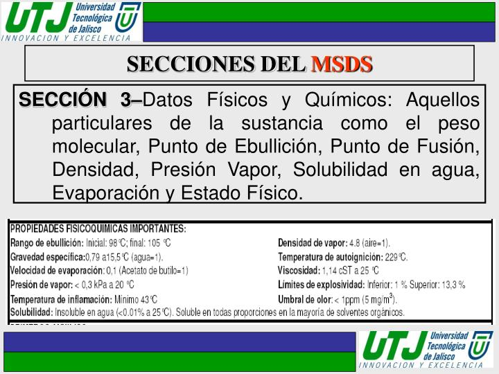 SECCIONES DEL