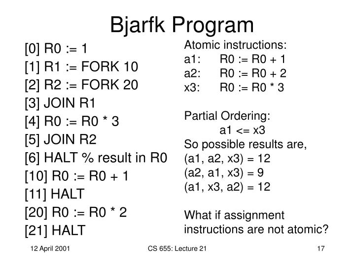 Bjarfk Program