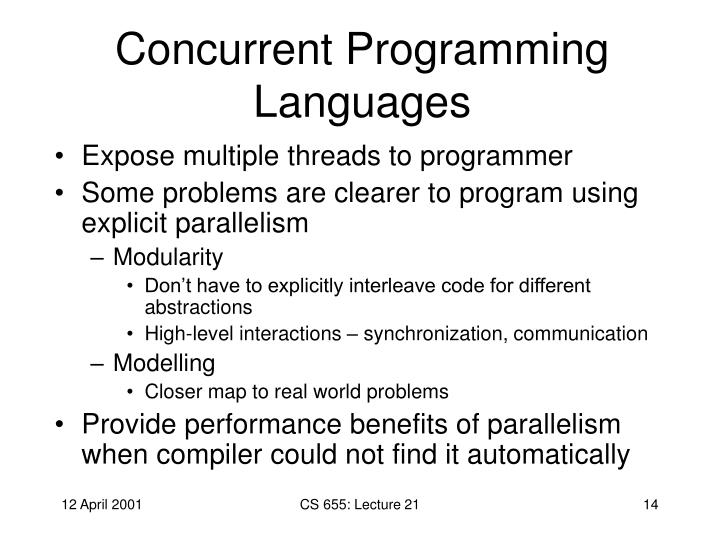Concurrent Programming Languages