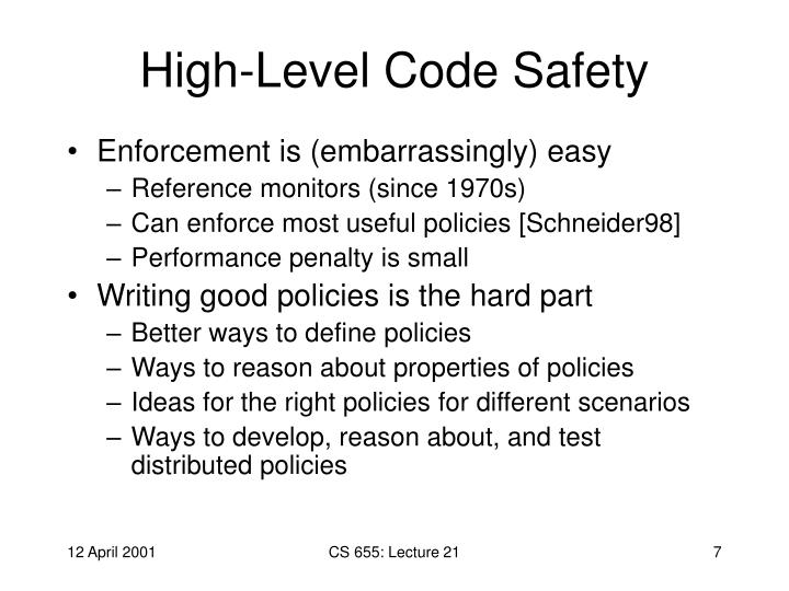 High-Level Code Safety