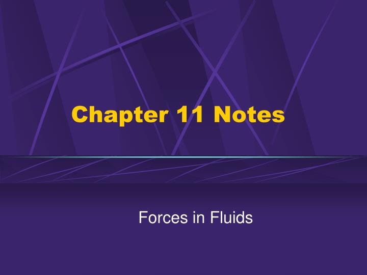 Chapter 11 notes