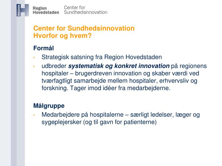Center for Sundhedsinnovation