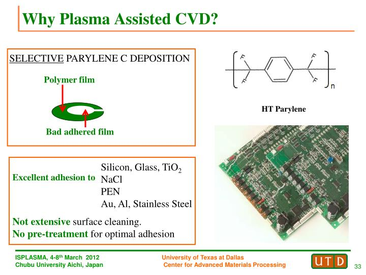 Why Plasma Assisted CVD?
