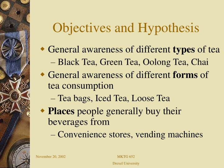 Objectives and Hypothesis