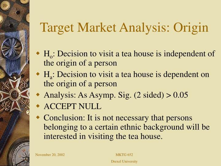 Target Market Analysis: Origin
