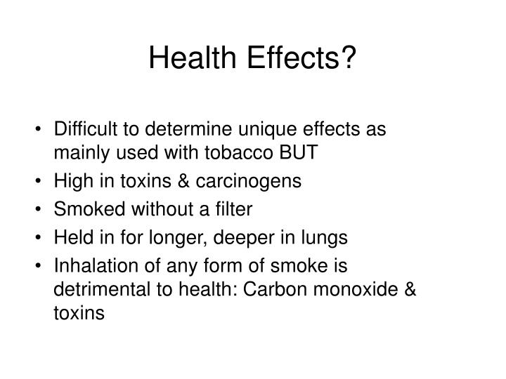 Health Effects?