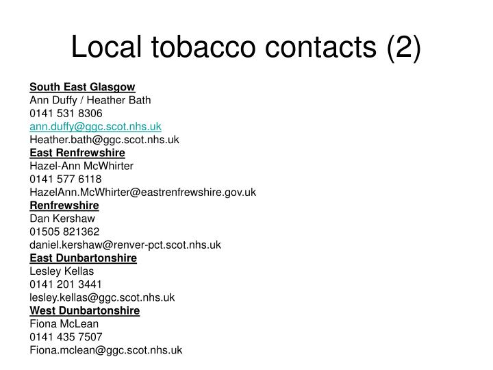 Local tobacco contacts (2)