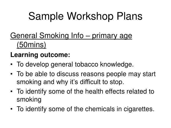 Sample Workshop Plans