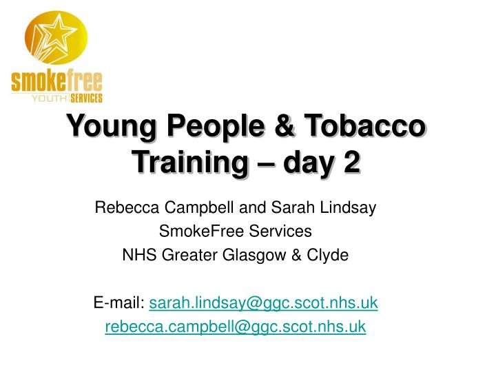 Young people tobacco training day 2