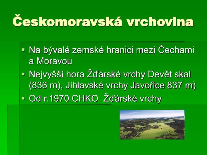 Českomoravská vrchovina