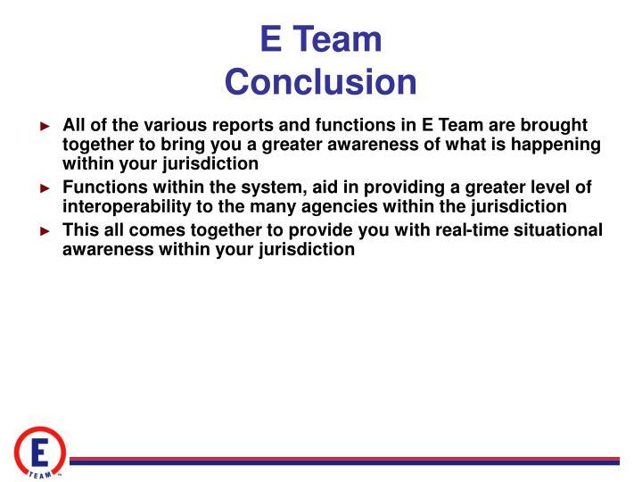 E Team