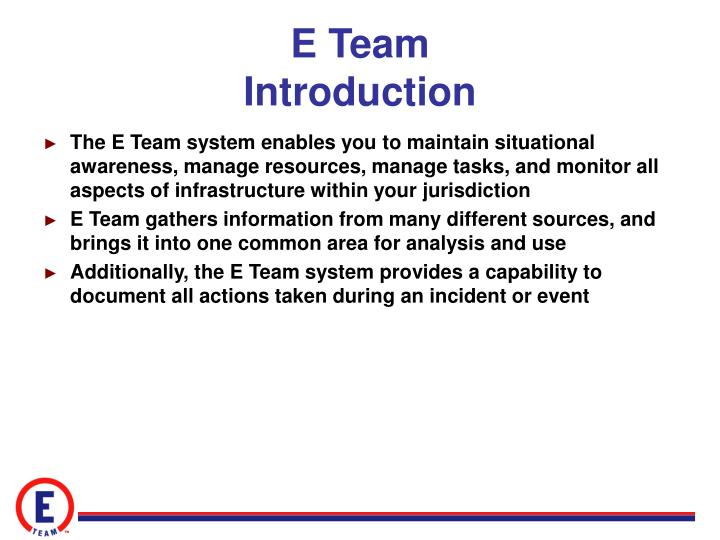 E team introduction