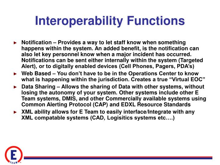 Interoperability Functions