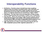 interoperability functions