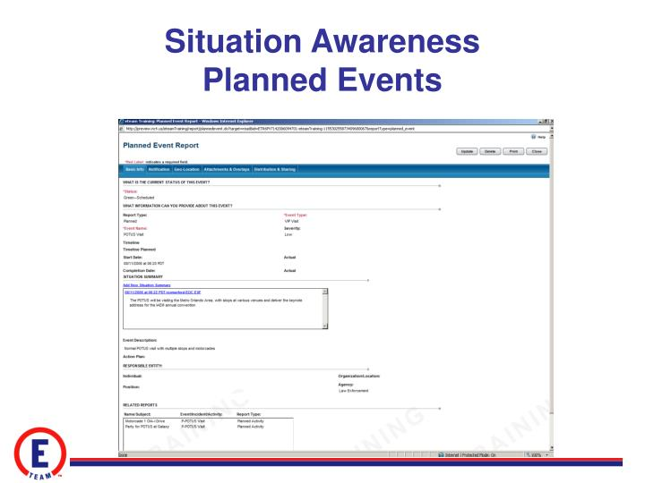Situation Awareness