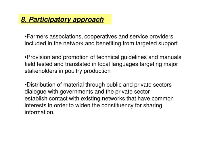 8. Participatory approach
