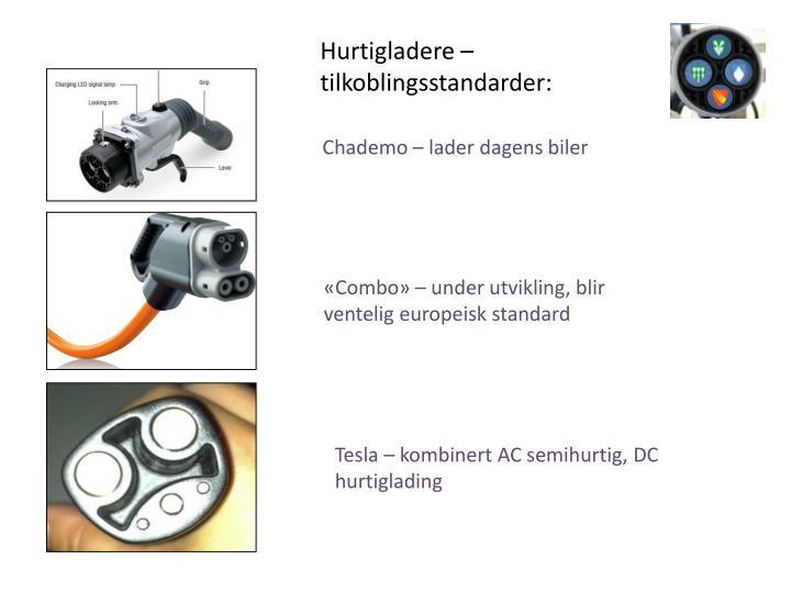Hurtigladere – tilkoblingsstandarder: