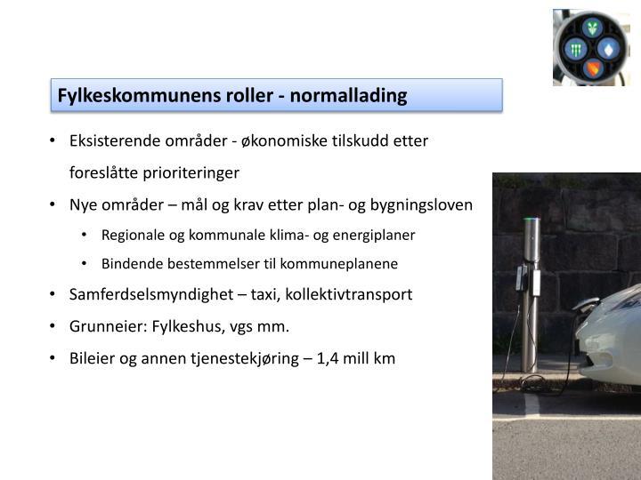 Fylkeskommunens roller - normallading