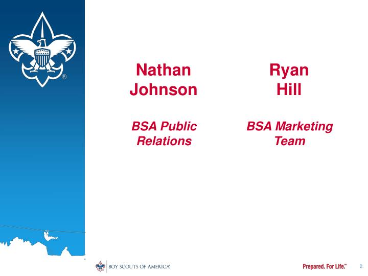 Ryan hill bsa marketing team