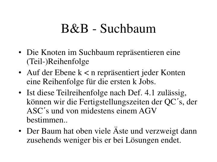 B&B - Suchbaum
