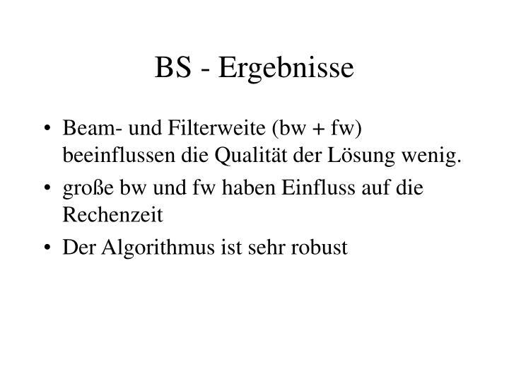 BS - Ergebnisse
