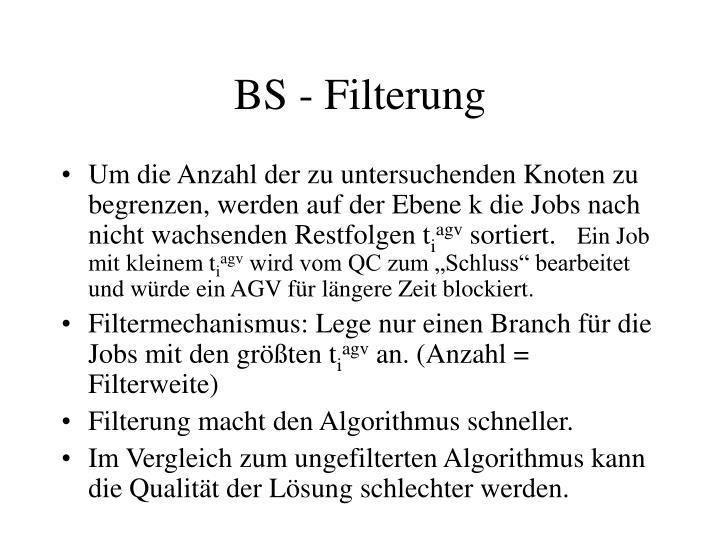 BS - Filterung