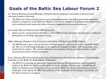 goals of the baltic sea labour forum 2