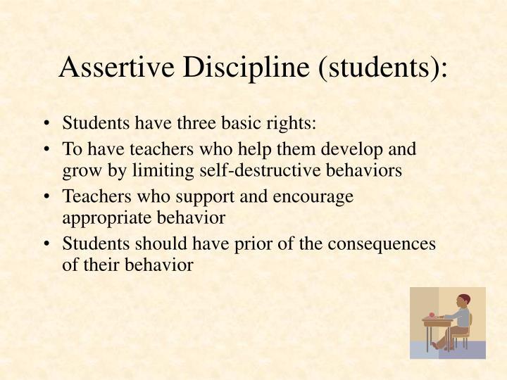 Assertive Discipline (students):