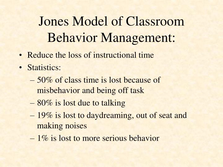 Jones Model of Classroom Behavior Management: