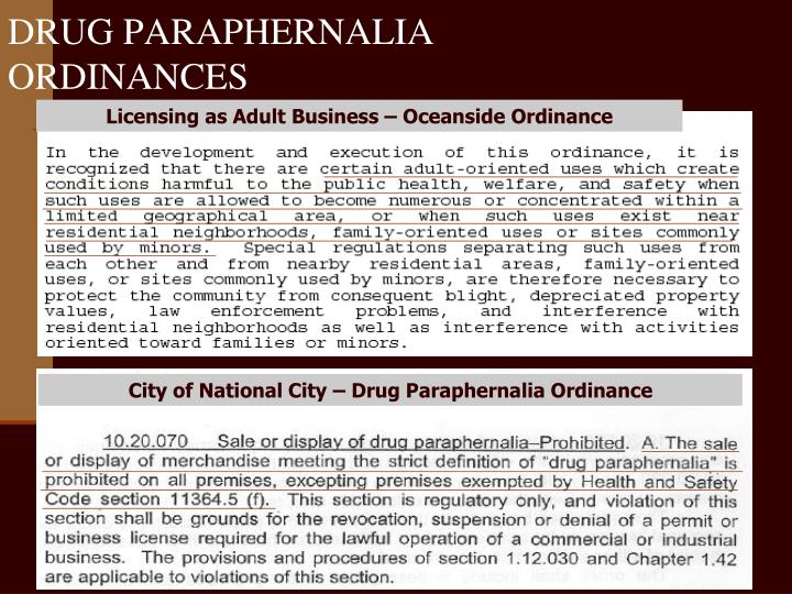 City of National City – Drug Paraphernalia Ordinance