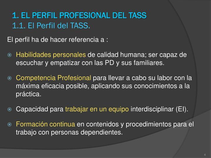 1. EL PERFIL PROFESIONAL DEL TASS