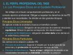 1 el perfil profesional del tass 1 6 los principios ticos en el cuidado profesional