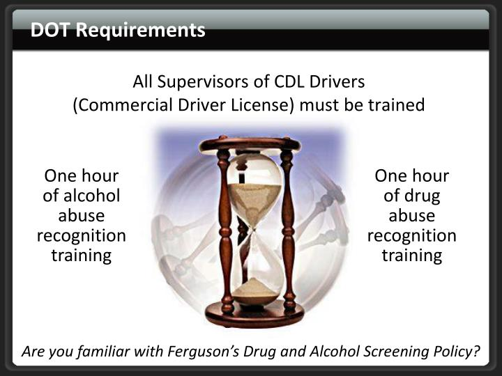 Dot requirements