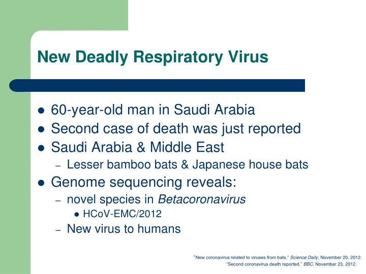New Deadly Respiratory Virus