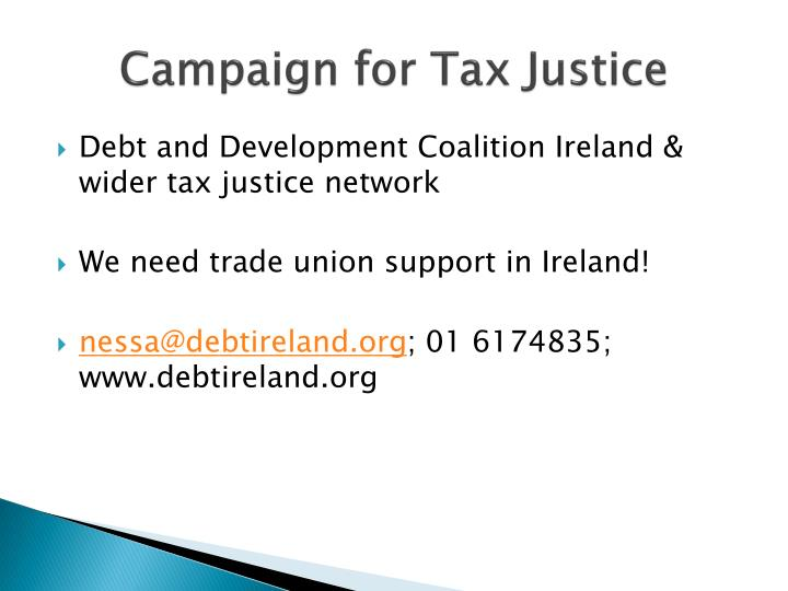 Campaign for Tax Justice