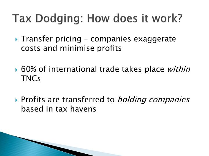 Tax Dodging: How does it work?