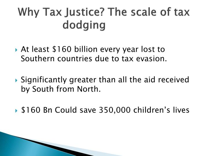 Why Tax Justice? The scale of tax dodging
